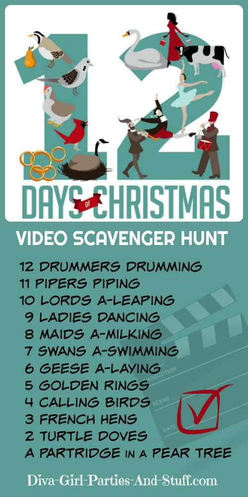 12 Days of Christmas Video Scavenger Hunt