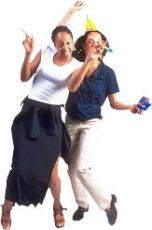 young women dancing