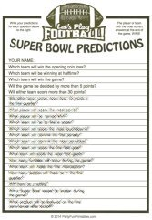 Super Bowl Predictions Game