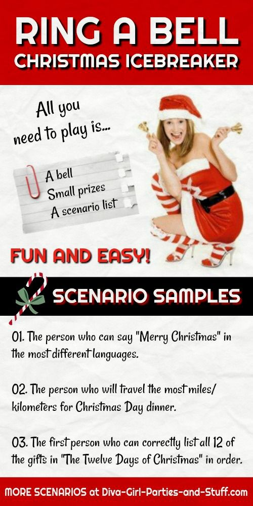 Ring a Bell Christmas Party Game Idea / Fun Easy Icebreaker