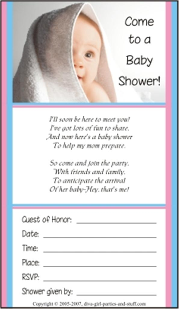 baby shower invitations and wording examples, Baby shower