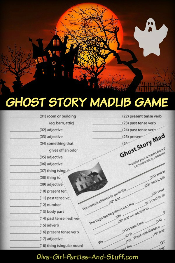 Ghost Story Mad Lib Pin