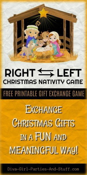 Printable Right Left Christmas Nativity Game