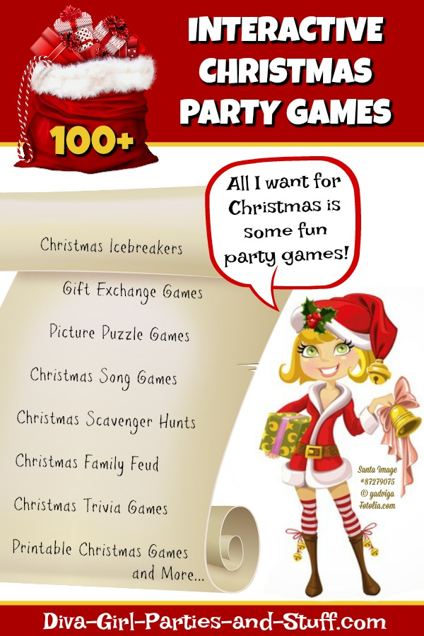 100 interactive christmas party games