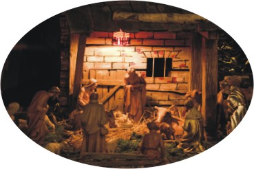 right left Christmas game nativity story