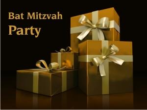 Black and Gold Bat Mitzvah