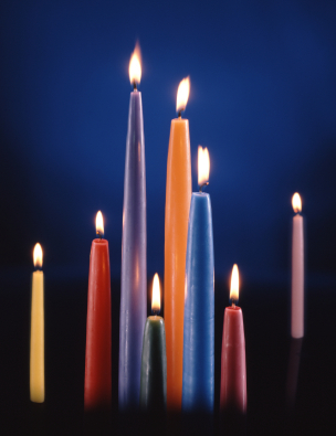 Assorted Colorful Candles
