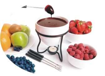 dipping fruit in chocolate