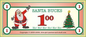 Christmas Auction Santa Bucks
