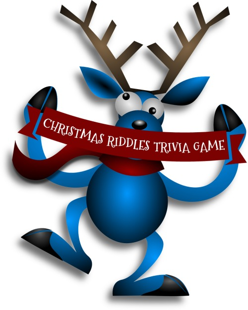 Christmas Riddles Trivia Game Reindeer