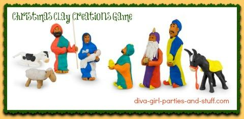 holiday Pictionary, Christmas charades with playdough
