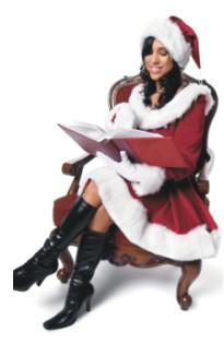 Female Santa Prepping Christmas Icebreaker Game