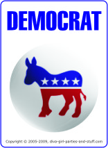 Democrat or Republican Trivia Card