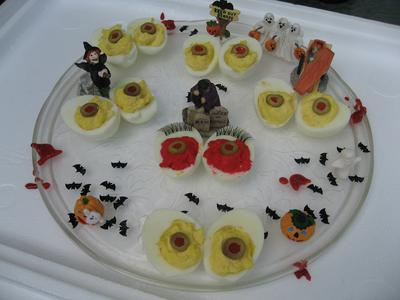 Deviled Egg Eyeballs Platter
