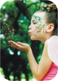 girl blowing fairy dust