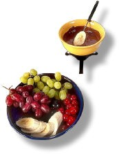 fruit dipping fondue