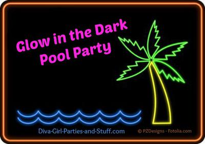 Too Many Bowl Games >> Glow in the Dark Neon Night Pool Party