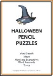 halloween puzzles and printable games