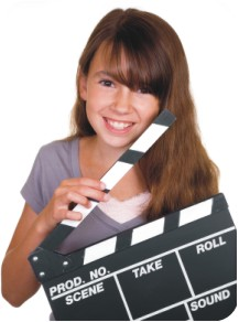 Young Girl with Clapboard
