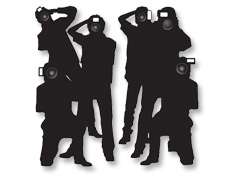 Bat Mitzvah Hollywood Party Paparazzi Cutouts