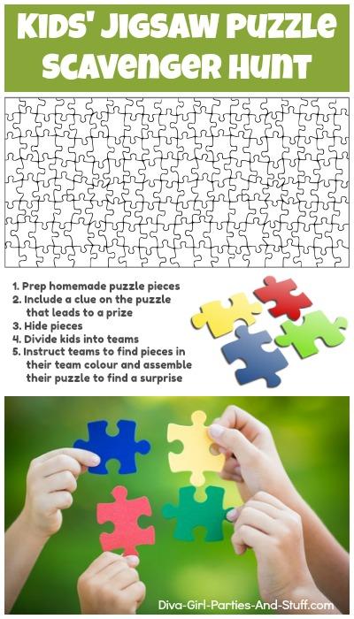 Jigsaw Puzzle Scavenger Hunt