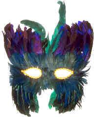 Mardi Gras Party Mask