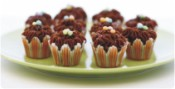 Mini Chocolate Cupcakes to Serve at a Cocktail Party
