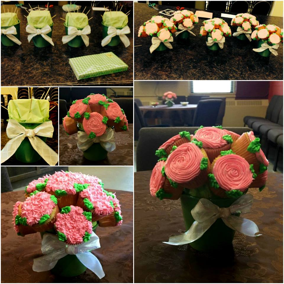 Mother's Day Cupcake Rose Bouquets