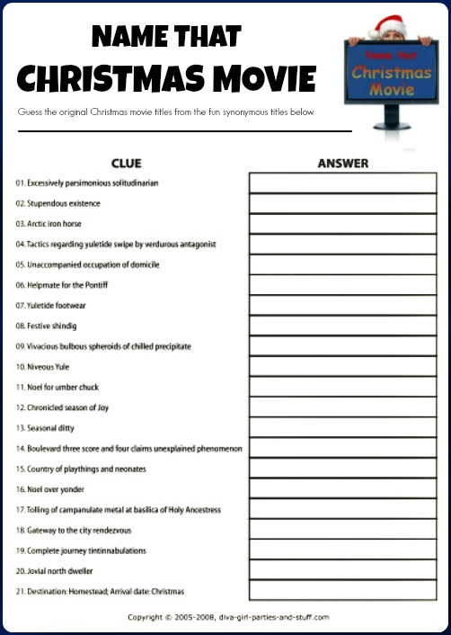 graphic about Printable Christmas Games With Answers titled Pleasurable Xmas Social gathering Match