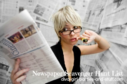 newspaper game for women