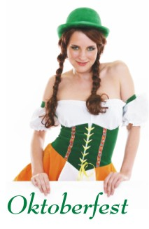 woman dressed in a German dirndl