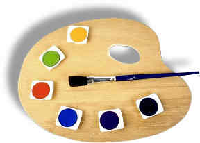art trivia paint pallette