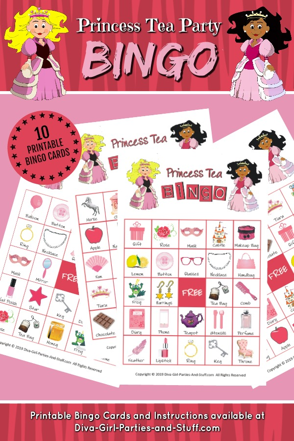 Princess Tea Party Bingo Pin