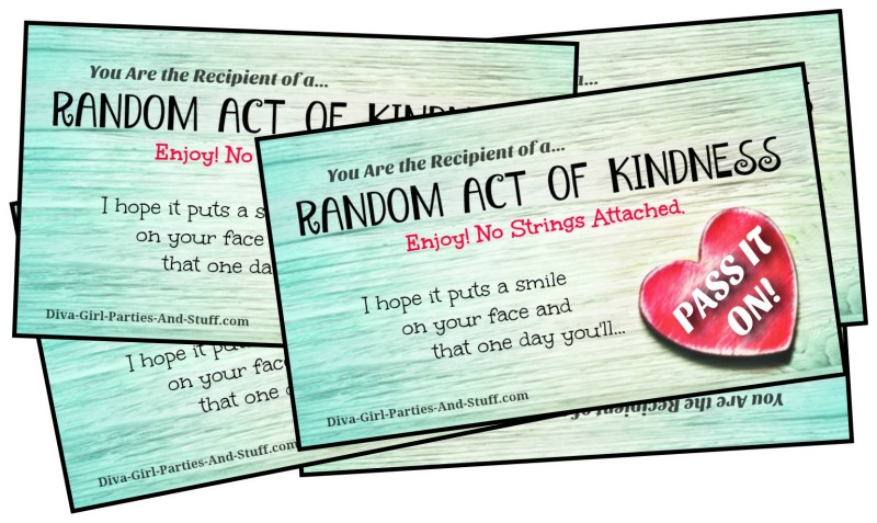 picture about Kindness Cards Printable identify Random Functions of Kindness Programs and RAK Playing cards