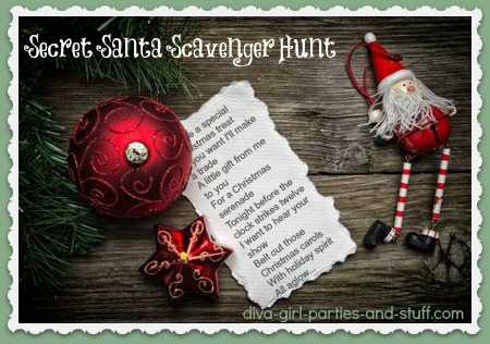 Secret Santa Christmas Scavenger Hunt