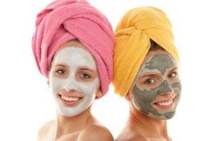 teens wearing spa face masks