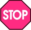 Pink Stop Sign