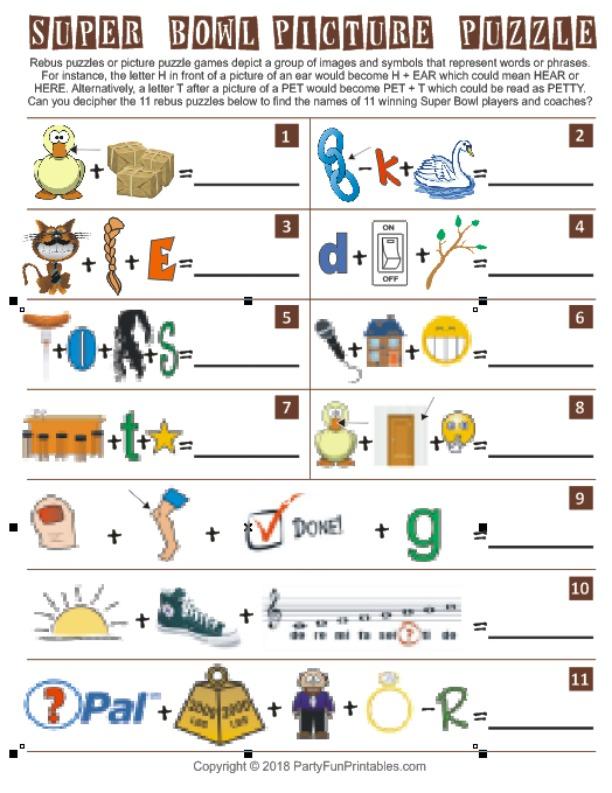 Super Bowl Picture Puzzle