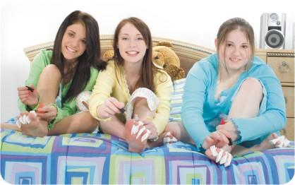 teen hotel pajama party