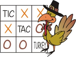 Tic Tac Turkey Thanksgiving Party Games