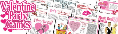 printable Valentine party games