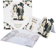 figurine bridal invitation