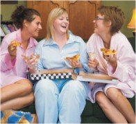girls night pajama party