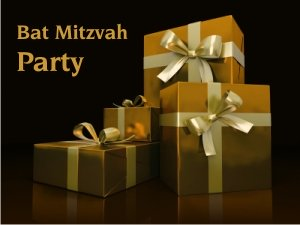 Black and Gold Bat Mitzvah
