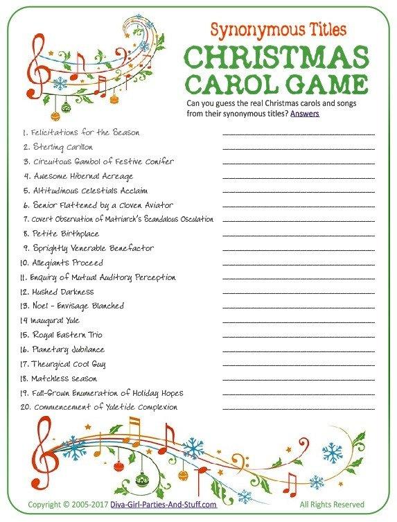 Rare image with regard to christmas carol games printable