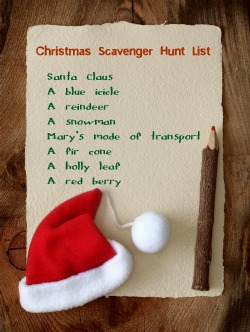 Christmas Scavenger Hunt List