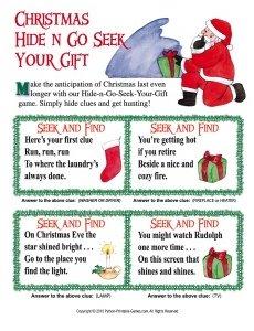 Christmas Gift Scavenger Hunt