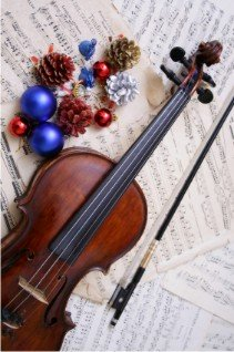 Christmas Carol Game Violin with Sheet Music
