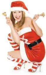 girl ringing Christmas bells