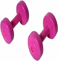 fuschia hand weights